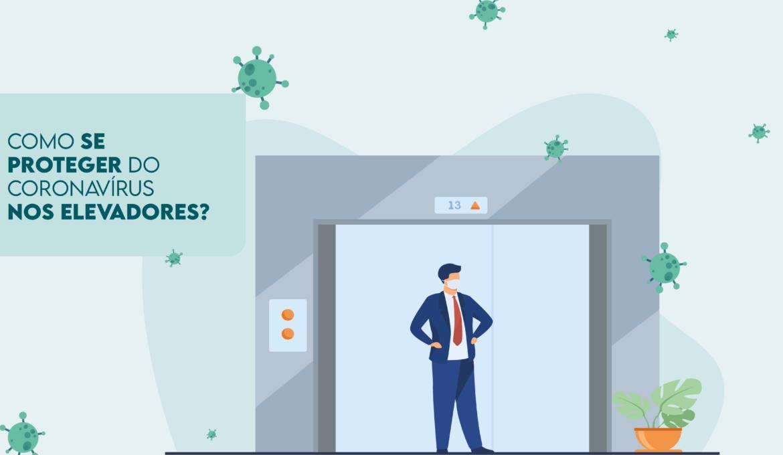 Infográfico: Como se proteger do coronavírus nos elevadores?